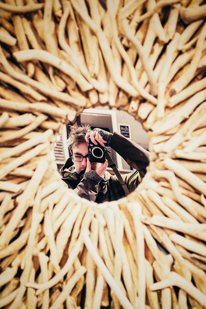Driftwood Mirror Self-portraits