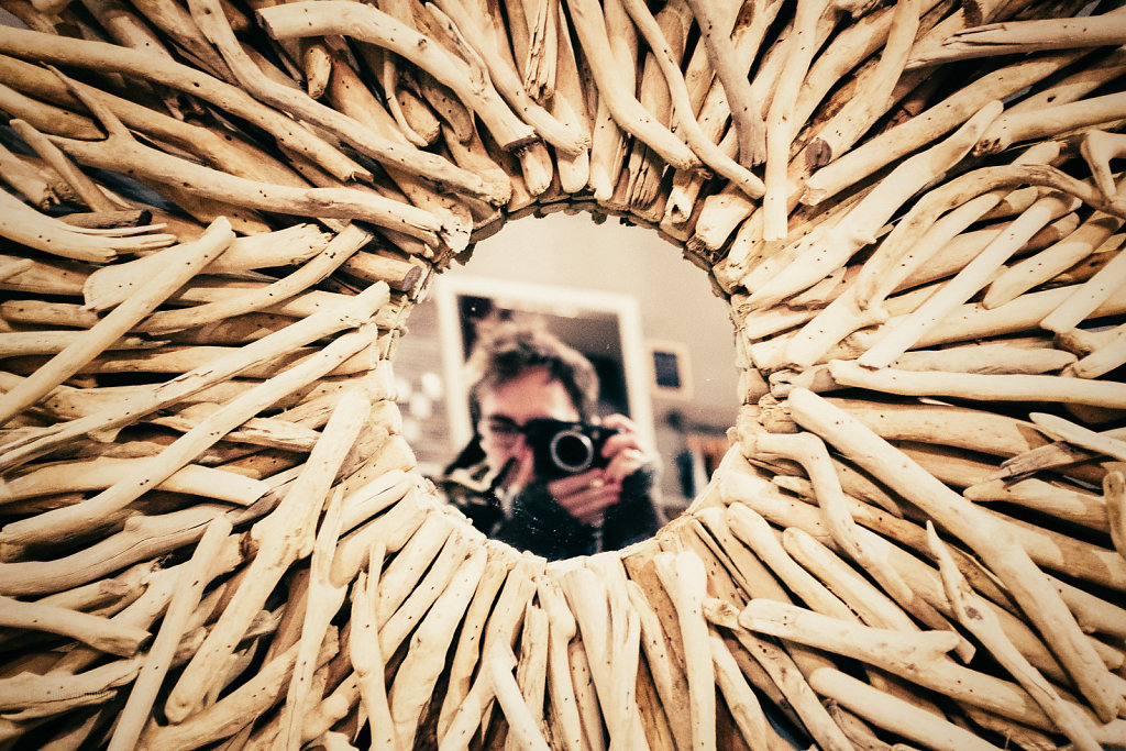 Driftwood Mirror Self-portraits